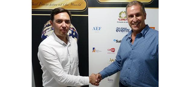Juan Merino, presidente de CEAJE, junto a Andrea Lazzari, presidente de Best Franchisee of the World España (1)