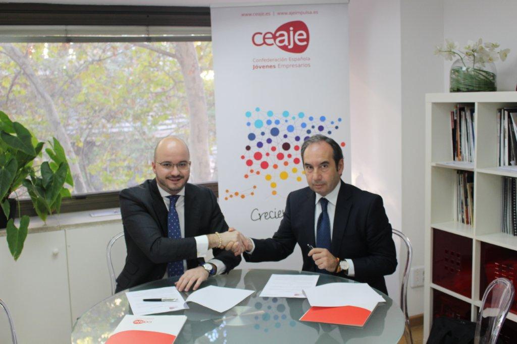 Ceaje y avalerroux suscriben un convenio de colaboraci n for Convenio de oficinas y despachos madrid